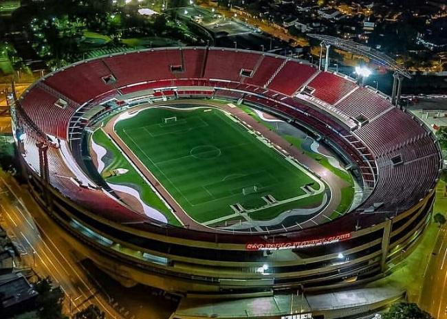 Estádio do Morumbi visto de cima