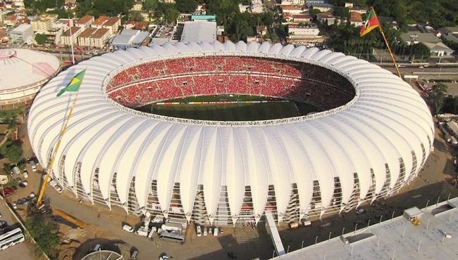 Estádio Beira Rio visto de cima