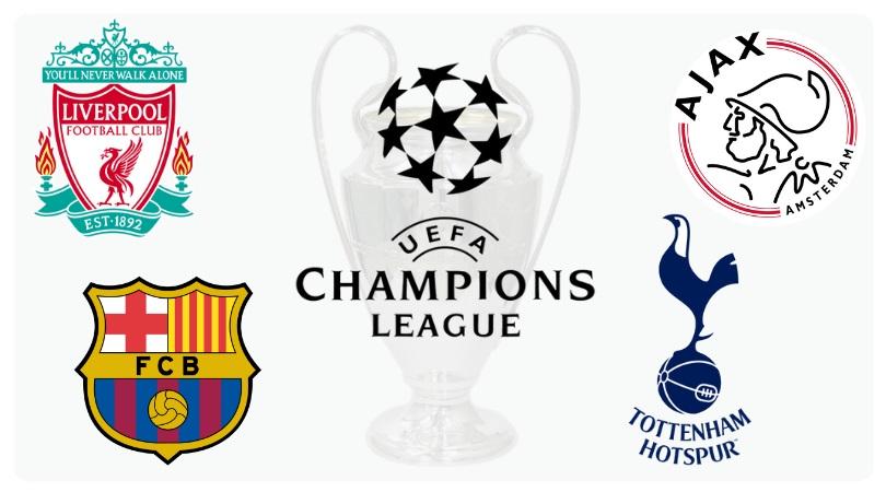 Escudos dos times da semifinal da champions league 2019