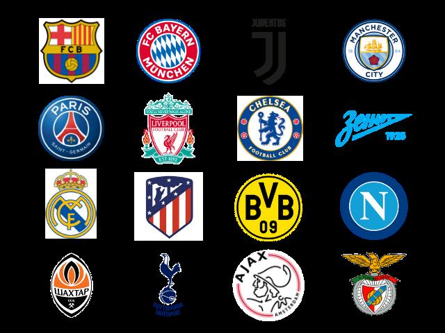 Times Cabeça de chave na champions league 2019