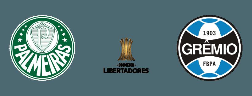 Palmeiras e Gremio se enfrentando nas quartas de final da Libertadores 2019