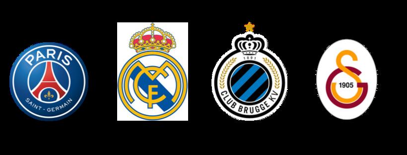 escudos times grupo A champions 2019