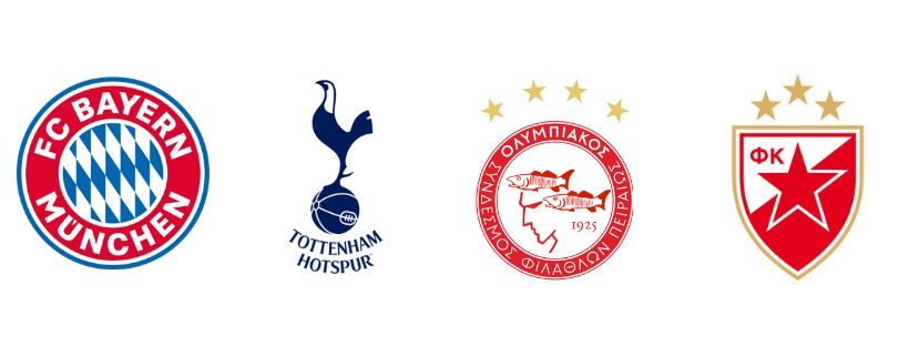 escudos times grupo B champions 2019