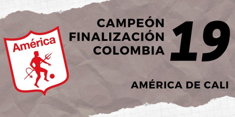America de Cali campeón Finalización 2019 Colombia
