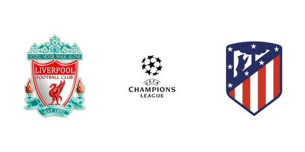 confronto das oitavas da champions entre Liverpool e Atletico de Madrid