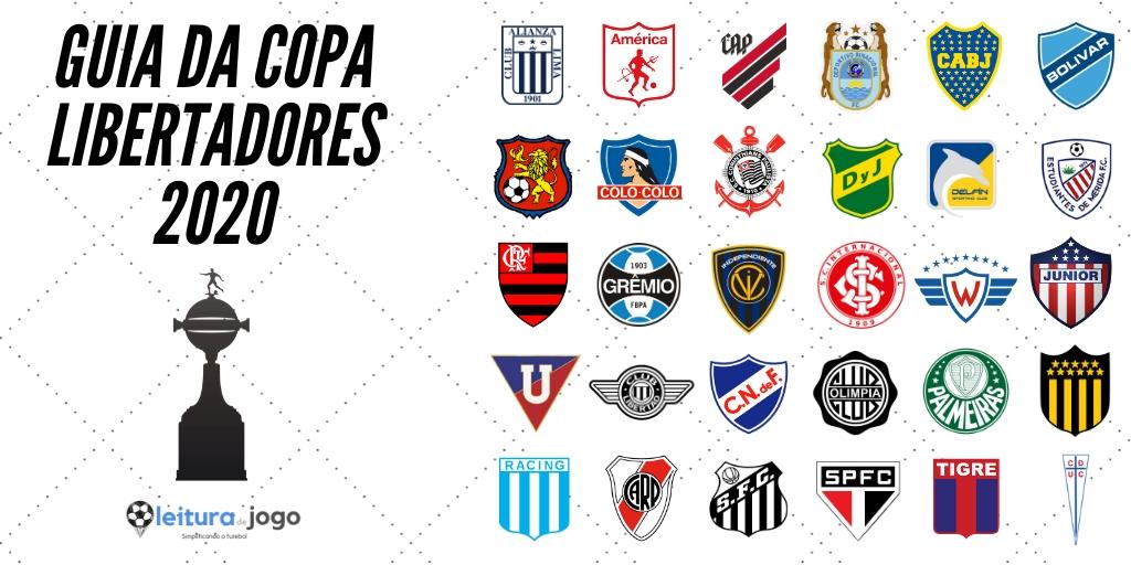Clubes participantes da Copa Libertadores 2020