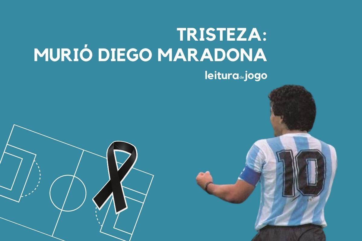 Tristeza, murió Diego Maradona