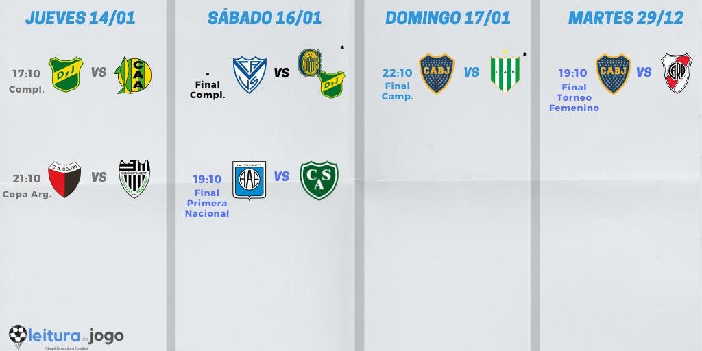 partidos-de-la-semana-del-fútbol-argentino