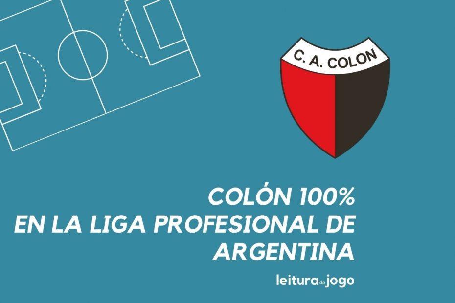 Colón con puntaje perfecto en la Liga Profesional Argentina