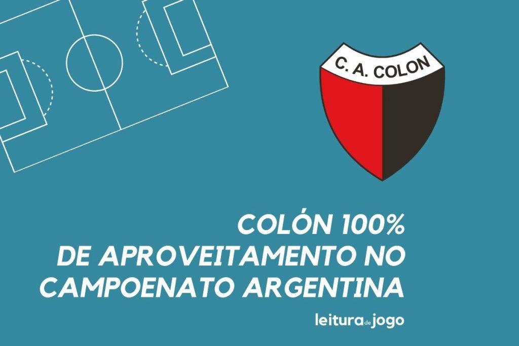 Colón 100% de aproveitamento no campeonato argentino