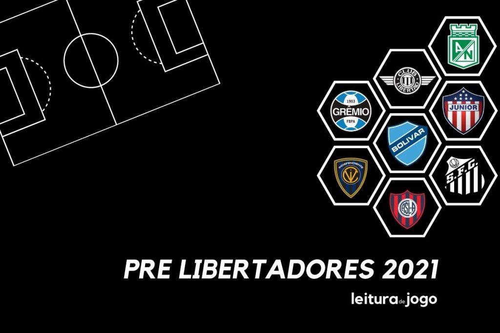 Equipes classificadas na Fase 3 da Pre Libertadores 2021