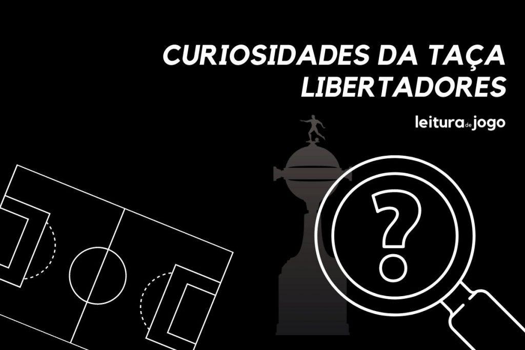 Uma lupa com um sinal de interrogação e o troféu da Copa Libertadores