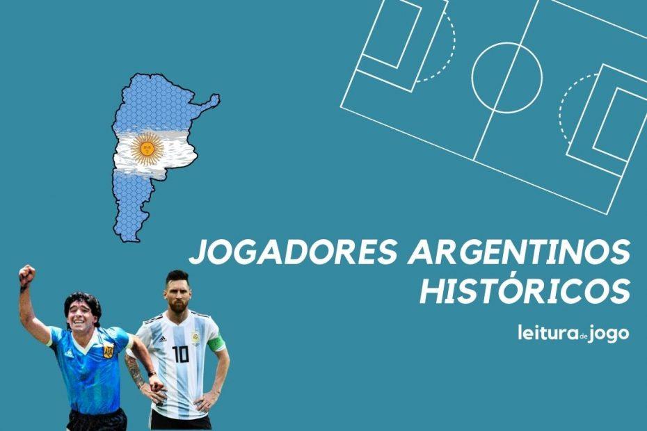 Diego Maradona e Lionel Messi sao dois históricos jogadores argentinos.