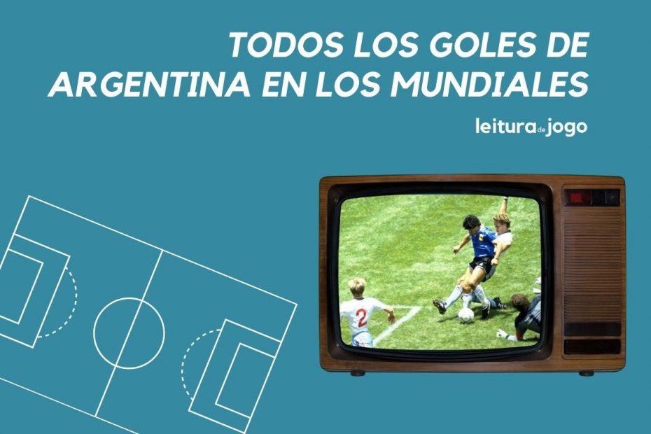 El historico gol de Maradona contra Inglaterra en el mundial de 1986 pasa en la televisón.